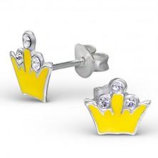 Kolczyki ze srebra 925 - korona królewska