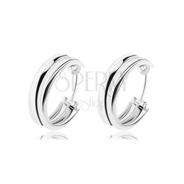 Srebrne kolczyki 925 - koła złożone z dwóch pierścieni