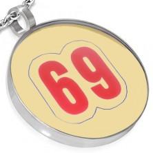Zawieszka ze stali - kółko, numer 69