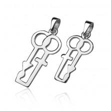 Wisorek ze srebra 925 dla pary - symbole płci