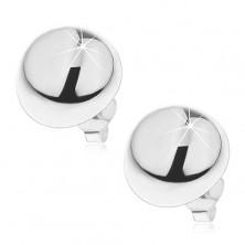 Kolczyki ze srebra 925 - półkula na sztyfcie, 14 mm