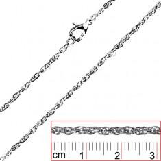 Łańcuszek ze stali - skręcony, gęsty splot, owalne ogniwa