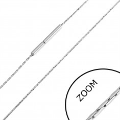 Stalowy łańcuszek cienkie tulejki, 0,8 mm