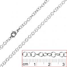 Stalowy łańcuszek - proste okrągłe ogniwa