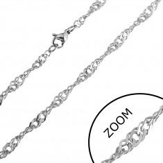 Łańcuszek ze stali nierdzewnej - drobne skręcone ogniwa