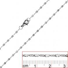 Stalowy łańcuszek - spłaszczone karbowane ogniwa