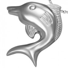 Zawieszka ze stali chirurgicznej duży delfin