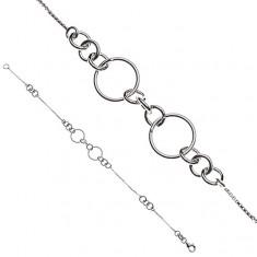 Srebrna bransoletka 925 na rękę - połączone okręgi