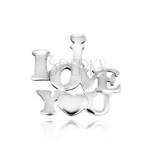 Wisiorek ze srebra 925 - napis zakochanych z serduszkiem