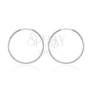 Okrągłe kolczyki ze srebra 925 - lśniąca gładka powierzchnia, 15 mm