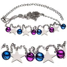 Łańcuszek wokół talii - kolorowe dzwoneczki i gwiazdy
