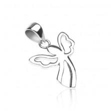 Wisiorek ze srebra 925 - aniołek z wyciętymi skrzydłami