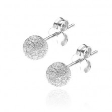 Kolczyki ze srebra 925 - sztyfty z błyszczącą kulką, 5 mm