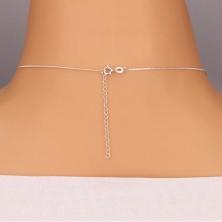 Srebrny naszyjnik 925 - pętelka z okrągłą cyrkonią na łańcuszku